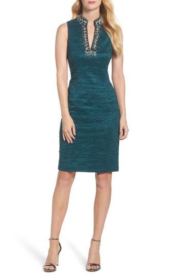 Eliza J Embellished Sheath Dress