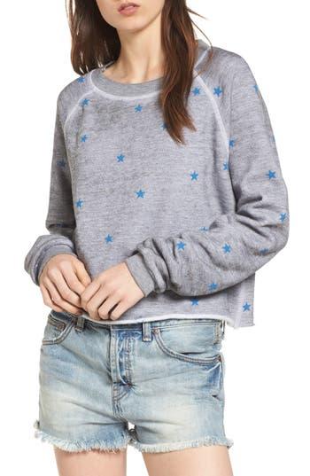Women's Wildfox Football Star Monte Sweatshirt, Size X-Small - Grey