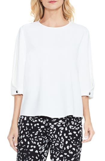 Women's Vince Camuto Bubble Sleeve Blouse, Size Small - White