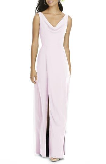 Social Bridesmaids Cowl Neck Chiffon Gown, Pink