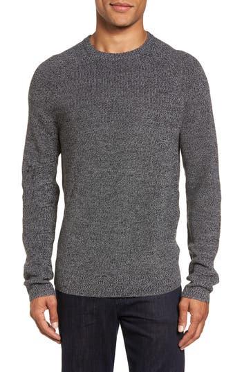 Big & Tall Nordstrom Shop Textured Merino Wool Blend Sweater, Black
