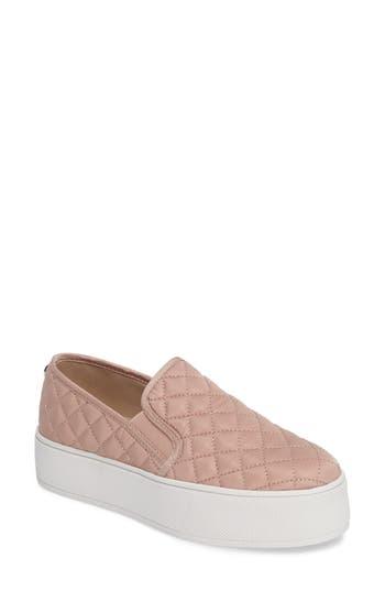 Steve Madden Ecentrcq Quilted Platform Sneaker, Pink