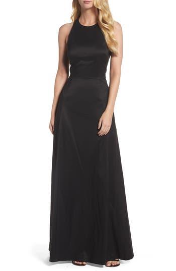 Vera Wang Cotton Blend Gown, Black