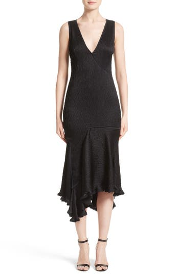 Jason Wu Satin Jacquard Asymmetrical Dress