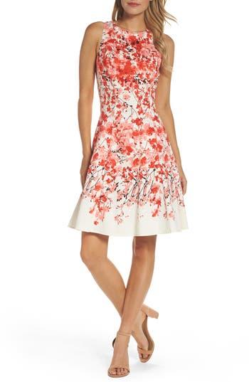 Women's Maggy London Print Stretch Cotton Dress