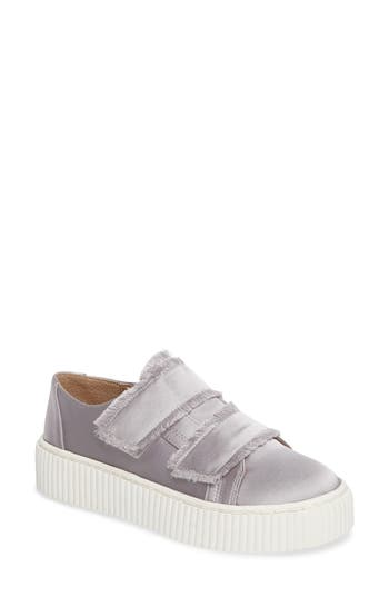 Shellys London Elder Fringed Platform Sneaker Grey