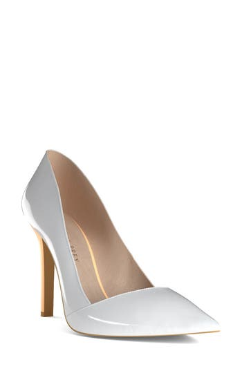 Shoes Of Prey Pointy Toe Pump, White