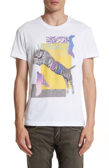 Versace Jeans Tiger Logo T-Shirt, White