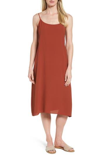 Eileen Fisher Midi Slipdress, Red