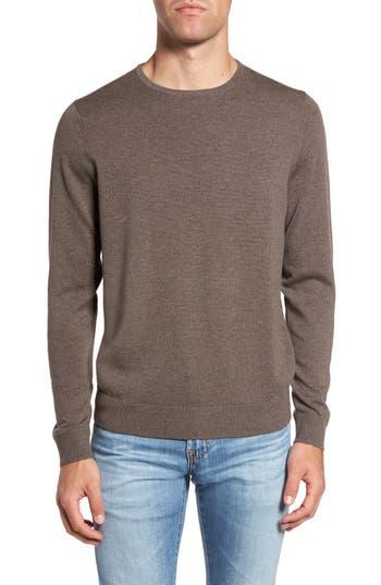 Big & Tall Nordstrom Shop Crewneck Merino Wool Sweater - Brown