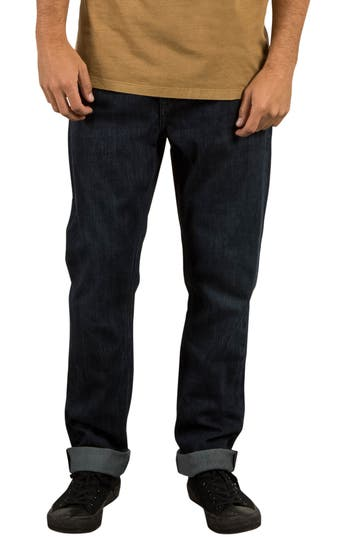 Volcom Kinkade Tapered Leg Jeans, Blue