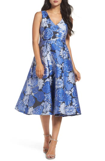 Women's Adrianna Papell Jacquard Fit & Flare Dress