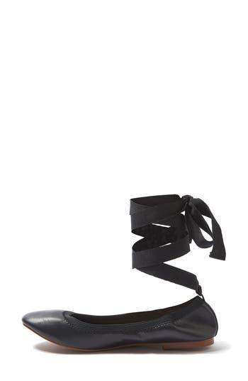 Topshop Vanquish Wraparound Ballet Flats - Black