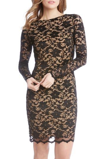 Karen Kane Lace Sheath Dress, Black