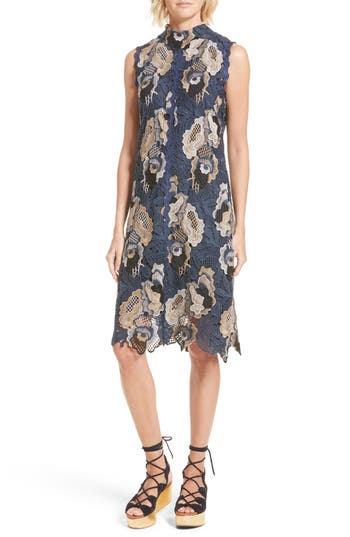 See By Chloe Floral Lace Dress, 0 4 IT - Blue