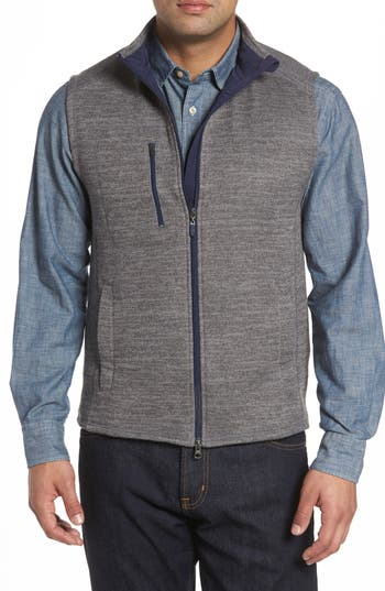 Men's Johnnie-O Tahoe Fleece Vest, Size Small - Grey