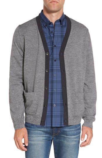 Nordstrom Shop Contrast Trim Merino Wool Cardigan