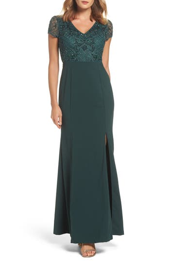 Women's Adrianna Papell Embellished Jersey Gown