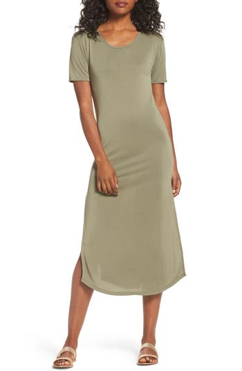 Women's Knot Sisters Diddy Midi Dress, Size X-Small - Green