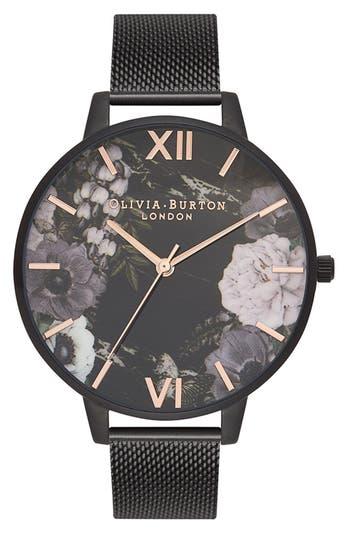 Women's Olivia Burton After Dark Mesh Strap Watch, 38Mm