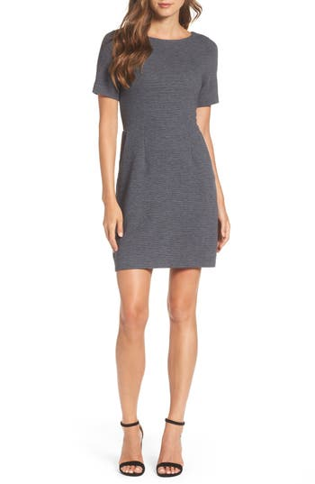 French Connection Sudan Fit & Flare Dress, Grey