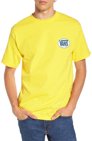 Vans Oval All Logo Graphic T-Shirt, Yellow