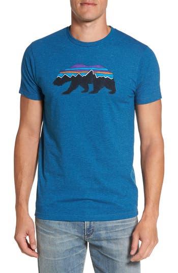 Patagonia Fitzroy Bear Graphic T-Shirt, Blue
