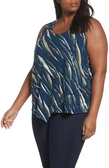 Plus Size Nic+Zoe Tiger Lily Top, Blue