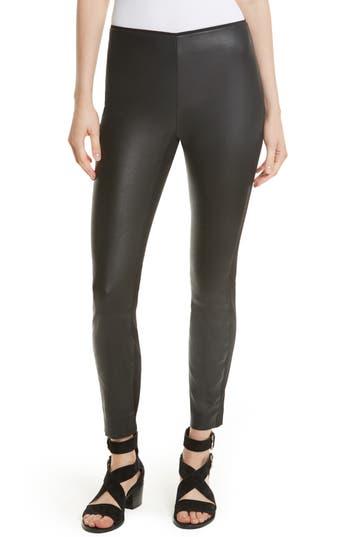 Women's Rag & Bone Josephine Leather Front Skinny Pants