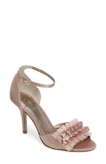 Women's Adrianna Papell Alcott Chiffon Ruffle Sandal, Size 5.5 M - Pink