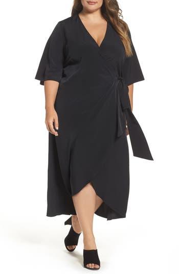 Plus Size Women's Melissa Mccarthy Seven7 Wrap Dress, Size 1X - Black