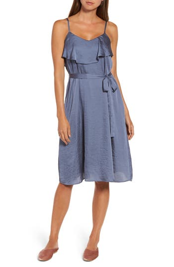 Chelsea 28 Satin Mix Slipdress, Blue
