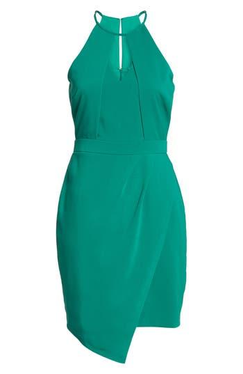 Women's Adelyn Rae Halter Sheath Dress, Size X-Small - Green
