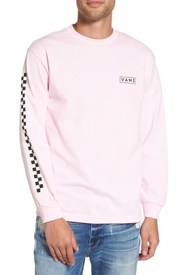 Vans Checkmate Long Sleeve Graphic T-Shirt, Pink
