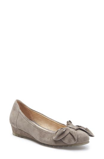 Me Too Martina Bow Ballet Wedge, Grey
