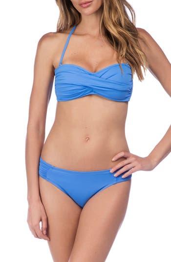 La Blanca Island Goddess Hipster Bikini Bottoms, Blue