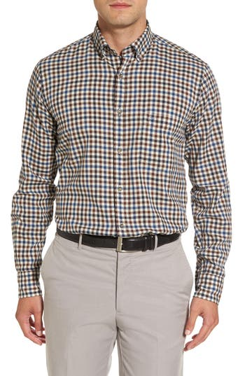Men's Paul & Shark Jacquard Check Sport Shirt