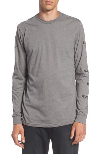 Rvca Brand Stack Graphic T-Shirt, Grey