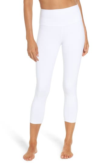 Alo Dash High Waist Capris, White