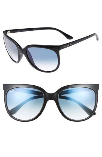 Ray-Ban Retro Cat Eye Sunglasses - Black/ Black