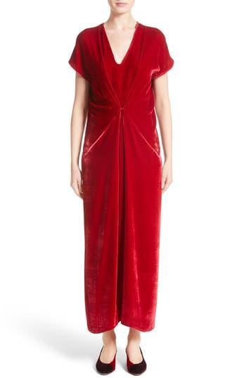 Zero + Maria Cornejo Sana Velvet Dress, Red