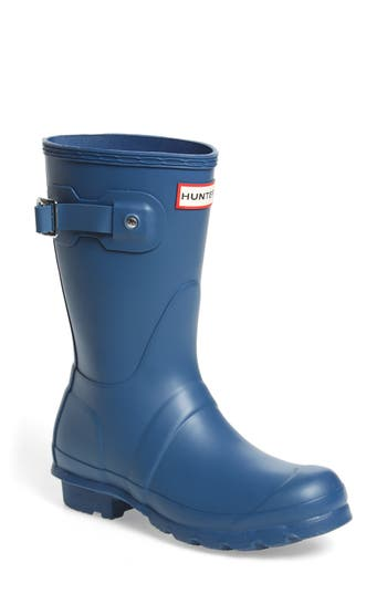Hunter Original Short Rain Boot, Blue