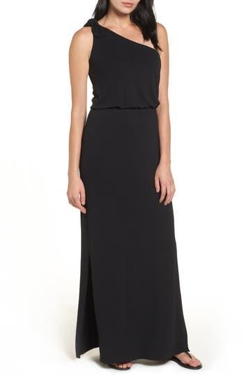 Bobeau One-Shoulder Maxi Dress, Black
