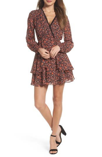 Greylin Haylie Fit & Flare Dress, Brown
