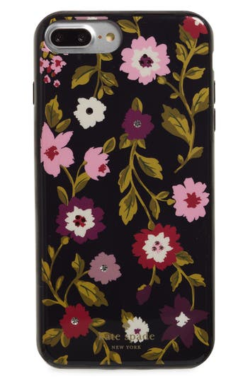 Kate Spade New York Jeweled - In Bloom Iphone 7/8 & 7/8 Plus Case - Black