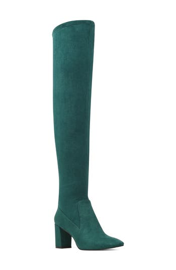 Nine West Xperian Over The Knee Boot- Green