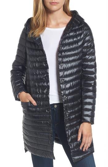Sam Edelman Reversible Down & Feather Fill Puffer Jacket, Black