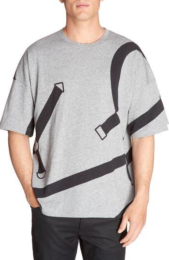 Lacoste L!ve Harness Print T-Shirt, Grey