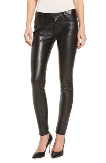 Blanknyc Skinny Classique Faux Leather Jeans, Black