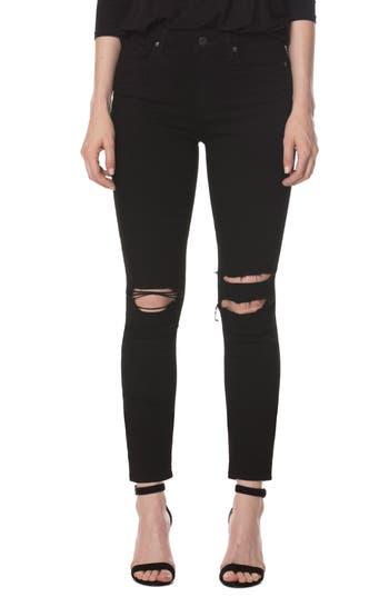 Paige Transcend - Hoxton Skinny Ankle Jeans, Black